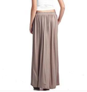 Rayon Spandex Layered Maxi Skirt with Pockets